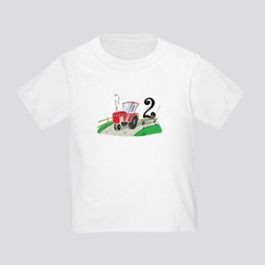 2nd Birthday Tractor Toddler T Shirt