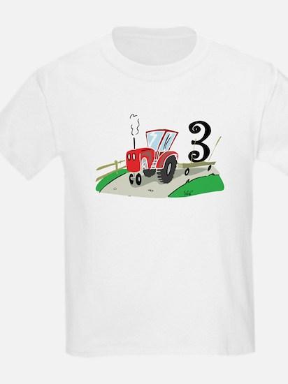 3rd Birthday Tractor T-Shirt