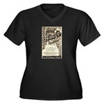 Hale's Honey Women's Plus Size V-Neck Dark T-Shirt