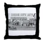 Dodge City 1879 Throw Pillow