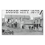 Dodge City 1879 Rectangle Sticker