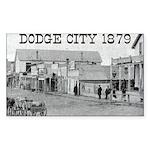 Dodge City 1879 Rectangle Sticker 50 pk)