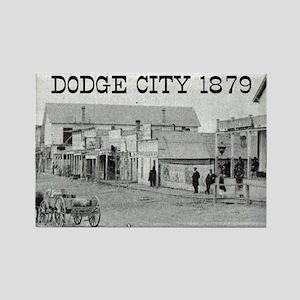 Dodge City 1879 Rectangle Magnet