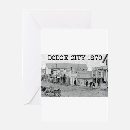 Dodge City 1879 Greeting Card