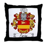 Farina Family Crest Throw Pillow