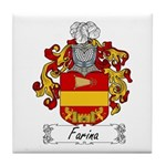 Farina Family Crest Tile Coaster