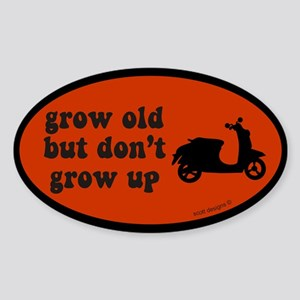 Don't Grow Up Red Oval Sticker