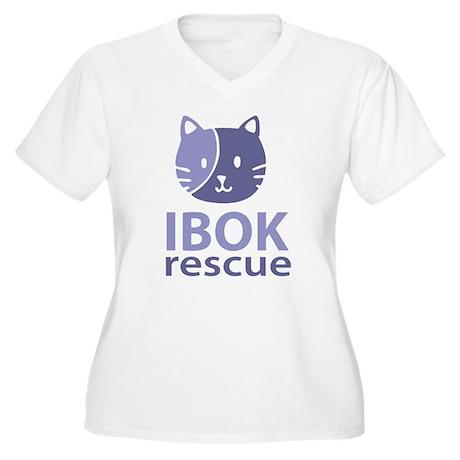 IBOK Rescue Women's Plus Size V-Neck T-Shirt