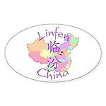 Linfen China Oval Sticker (10 pk)