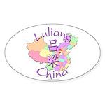 Luliang China Oval Sticker (10 pk)