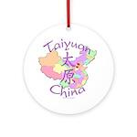 Taiyuan China Map Ornament (Round)