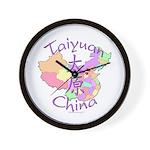 Taiyuan China Map Wall Clock