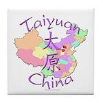 Taiyuan China Map Tile Coaster