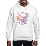 Taiyuan China Map Hooded Sweatshirt