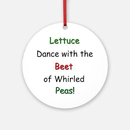 Lettuce dance & Peas Keepsake (Round)