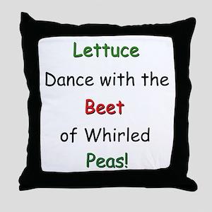Lettuce dance & Peas Throw Pillow