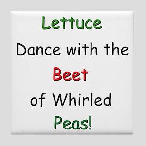 Lettuce dance & Peas Tile Coaster