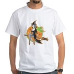 Halloween T-shirt! Vintage witch on broomstick