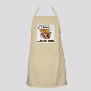 It goes there BBQ Apron