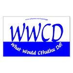 What Would Cthulhu Do? Rectangular Sticker