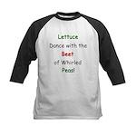 Lettuce dance & Peas Kids Baseball Jersey
