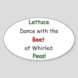Lettuce dance & Peas Oval Sticker