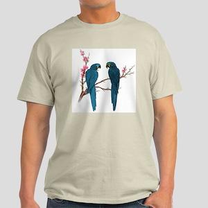 Double Trouble Parrots Ash Grey T-Shirt