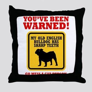 Old English Bulldog Throw Pillow