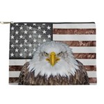 American Bald Eagle Patriot Makeup Bag