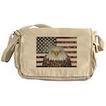 American Bald Eagle Patriot Messenger Bag