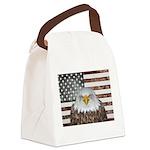 American Bald Eagle Patriot Canvas Lunch Bag