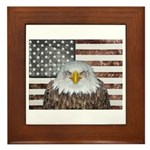 American Bald Eagle Patriot Framed Tile