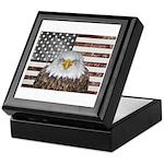 American Bald Eagle Patriot Keepsake Box