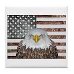 American Bald Eagle Patriot Tile Coaster