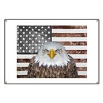 American Bald Eagle Patriot Banner