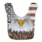 American Bald Eagle Patriot Polyester Baby Bib