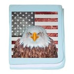 American Bald Eagle Patriot baby blanket