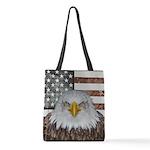 American Bald Eagle Patriot Polyester Tote Bag