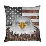 American Bald Eagle Patriot Everyday Pillow