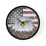 American Bald Eagle Patriot Wall Clock