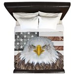 American Bald Eagle Patriot King Duvet