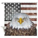 American Bald Eagle Patriot Shower Curtain