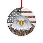 American Bald Eagle Patriot Round Ornament
