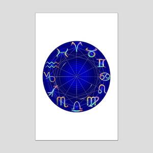 Astrology Wheel Mini Poster Print