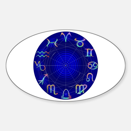 Astrology Wheel Oval Decal