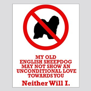 Old English Sheepdog Small Poster