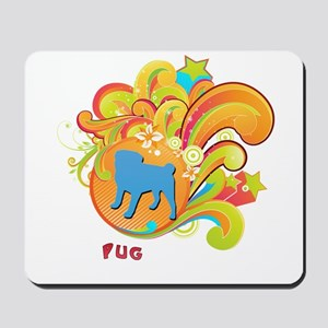 Groovy Pug Mousepad