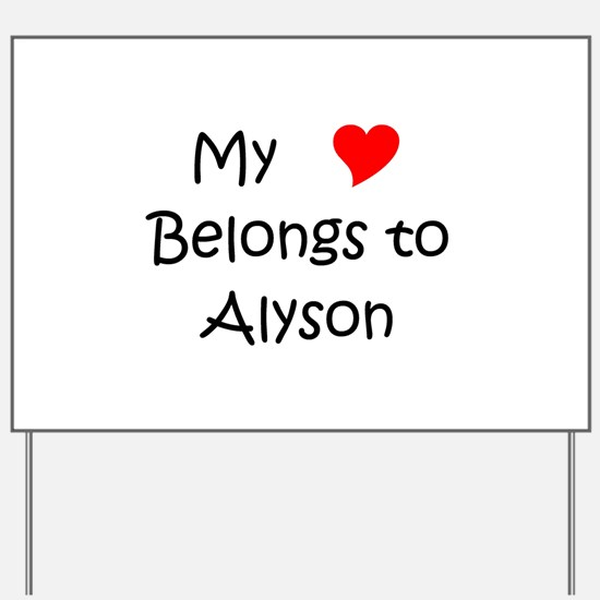 Alyson Yard Sign