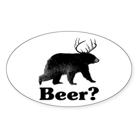 Beer? Sticker (Oval 10 pk)