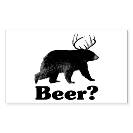 Beer? Sticker (Rectangle)
